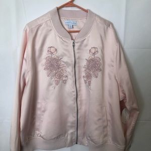 NWT women's pink zip up jacket size 3X